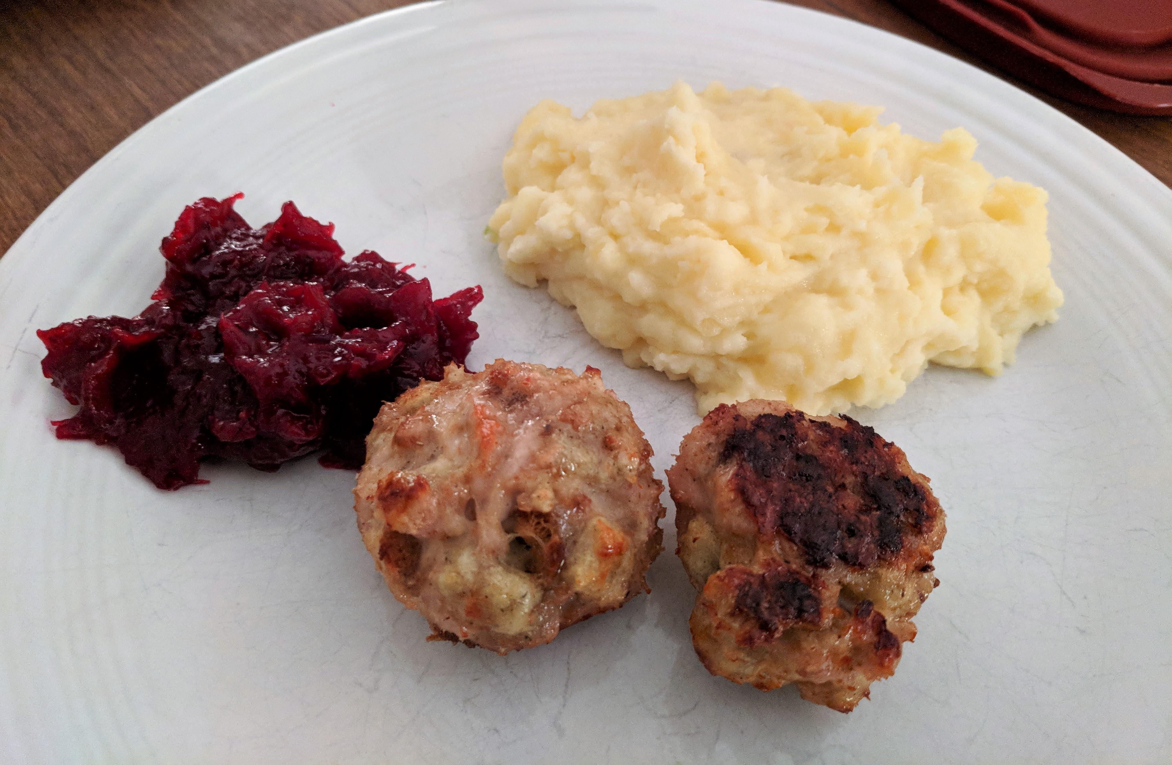 turkey stuffing christmas meatballs