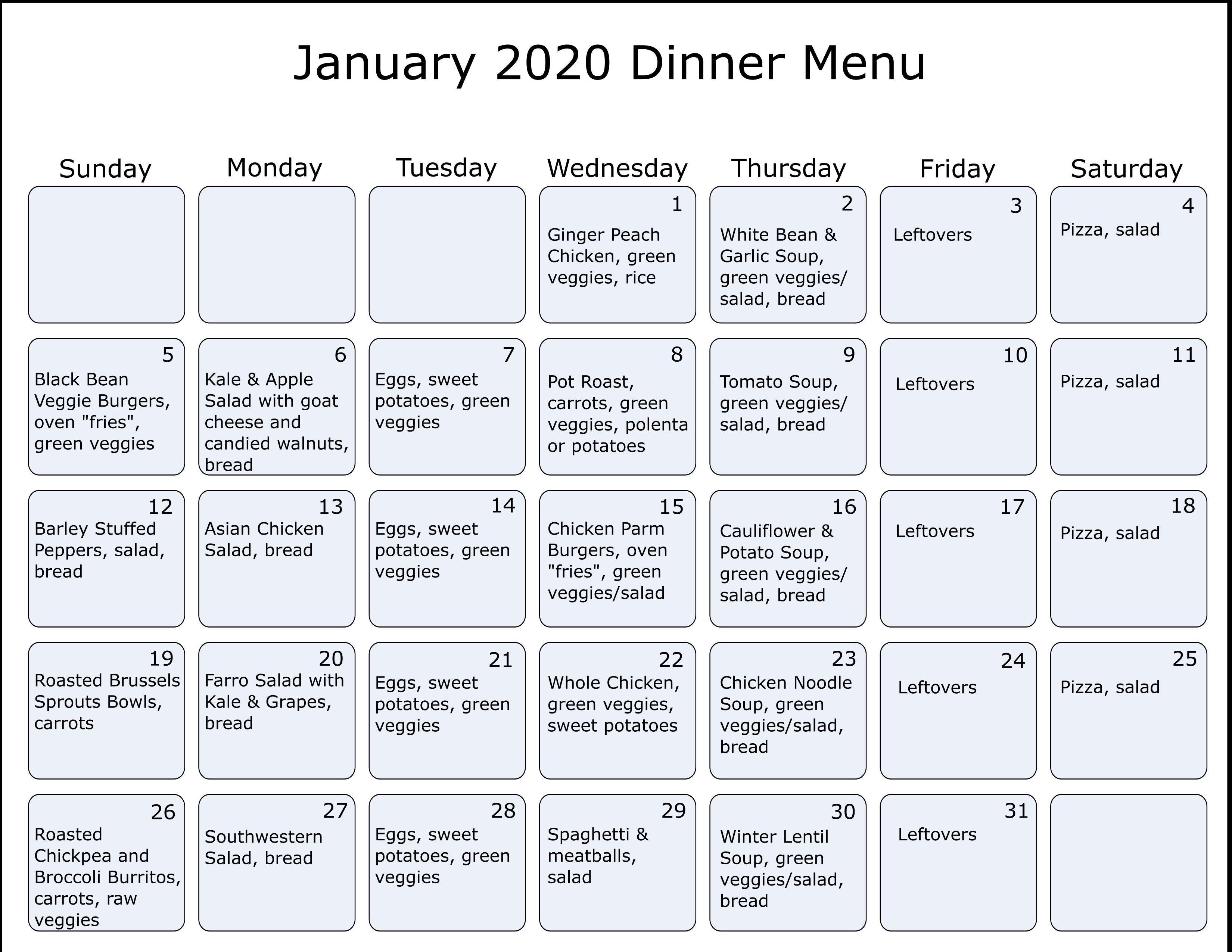 january2020 menu
