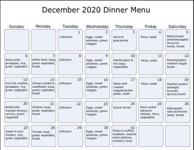 december2020 menu